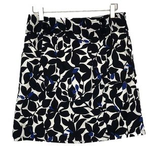 Ann Taylor Mini Skirt Black White Blue size 0